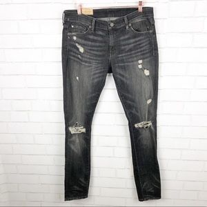 Ralph Lauren Ripped Black Skinny Jeans Size 30